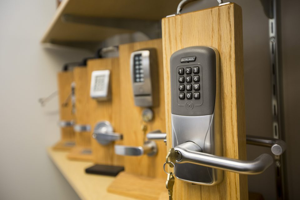 Security Integration hardware including cipher locks, electronic access control and CCTV