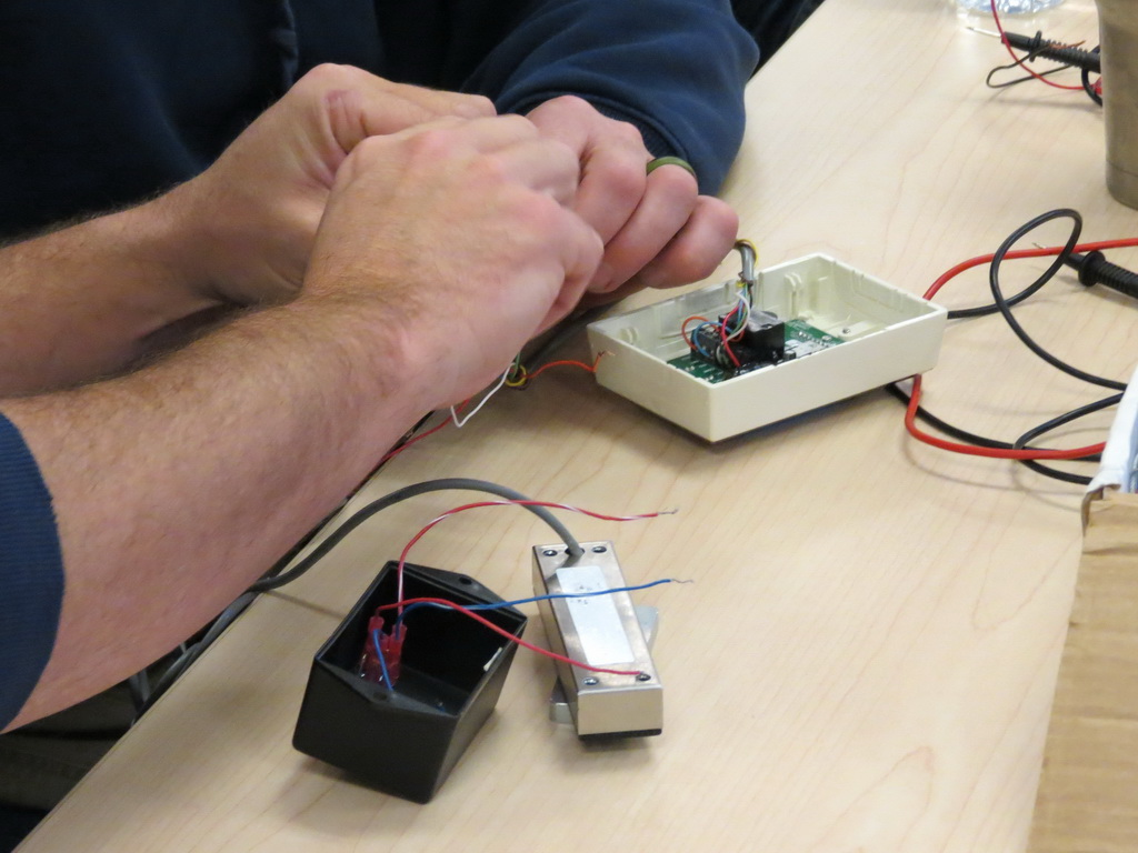 Doorways Techs Receive Electricity And Electronics Training Electrical Wiring Technicians Hands On With Electronic Access Control
