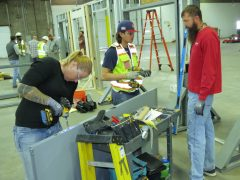Adolfson & Peterson Construction carpenters learn door, frame and hardware installation from Doorways' experts.