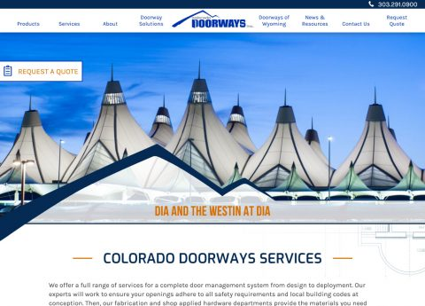 Colorado Doorways' new website uses the latest online technologies and authoring techniques to provide a modern and up-to-date look..