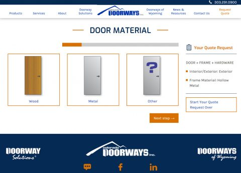 Build your door and get a quote, all online, with our new Quote Builder System.