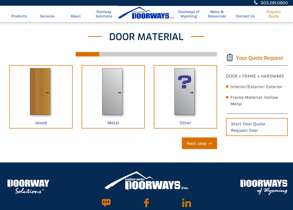 Build Your Door And Get A Quote All Online With Our New Quote