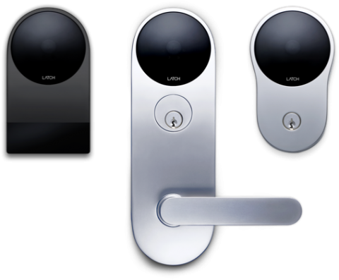 The Latch family of smart access system locks and readers.